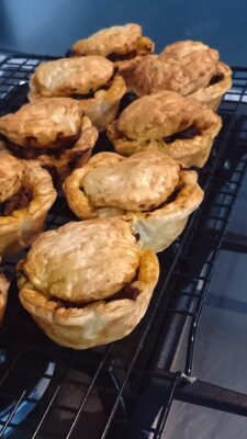 Pies - slow cooked beef and tomato